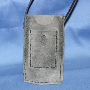 Handcrafted Gray Cell Phone Pouch